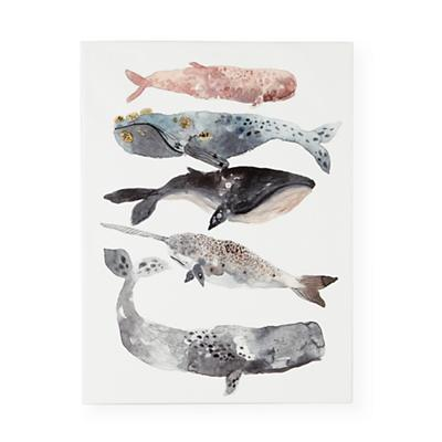 WallArt_Five_Whales_LL