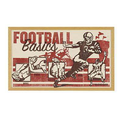 Poster Play Football Wall Art (Framed)