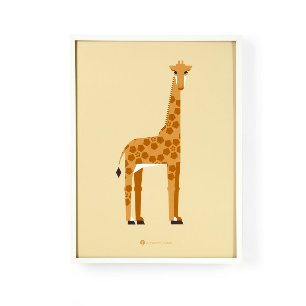 Modern Menagerie Framed Wall Art (Giraffe)