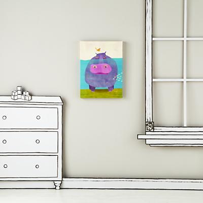 WallArt_Happy_Hippo