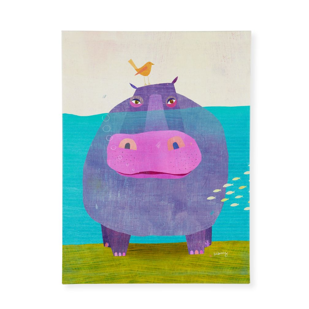 Happy Hippo Wall Art