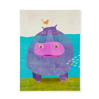 Happy Hippo Wall Art