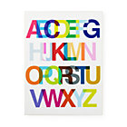 Helvetica Alphabet Wall Art