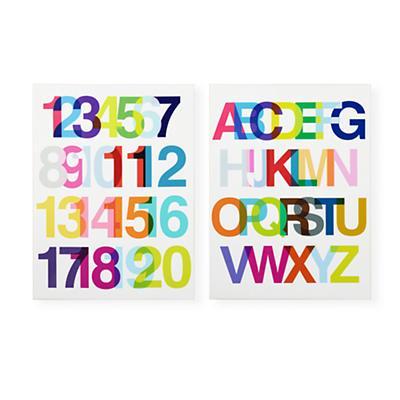 Helvetica Wall Art Set