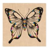 Exotic Embroideries Jute Wall Art (Butterfly)