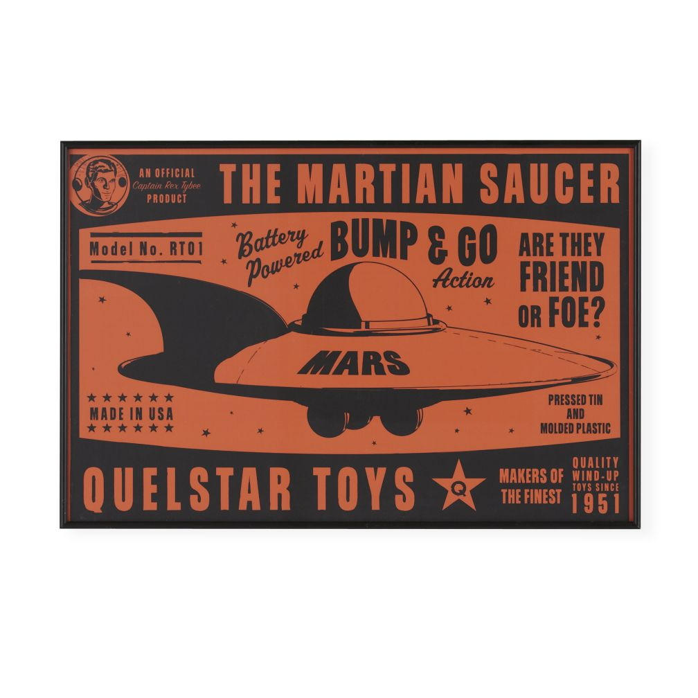 They&#39;re Heeere Outer Space Framed Wall Art (Flying Saucer)