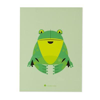 Modern Menagerie Unframed Wall Art (Frog)