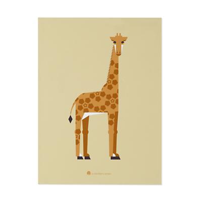 Unframed Menagerie Giraffe Wall Art