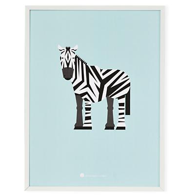 Modern Menagerie Wall Art (Zebra)