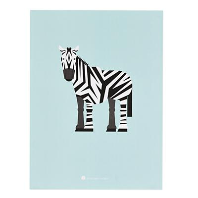 Unframed Menagerie Zebra Wall Art