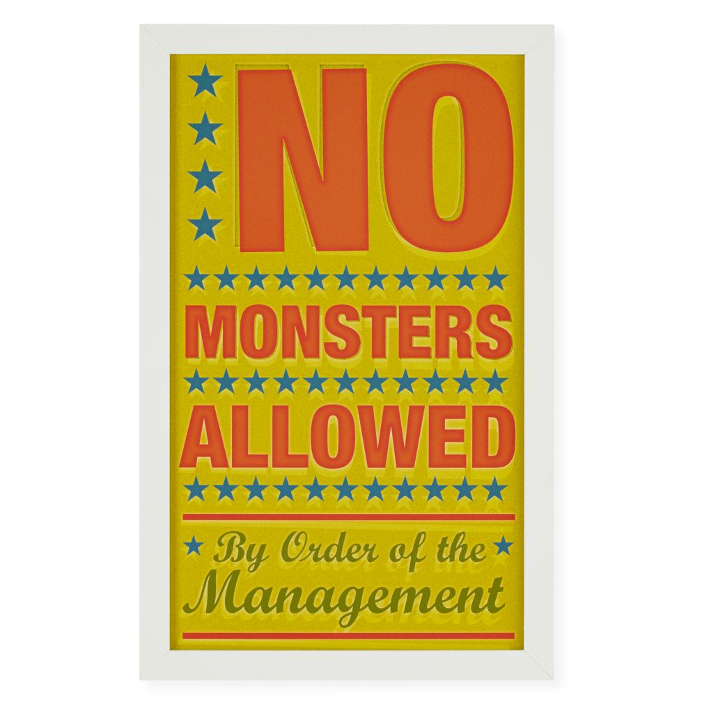 No Monsters Allowed Framed Wall Art