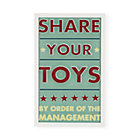 Framed Share Your Toys Wall Art