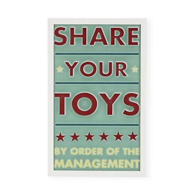 Share Your Toys Framed Wall Art