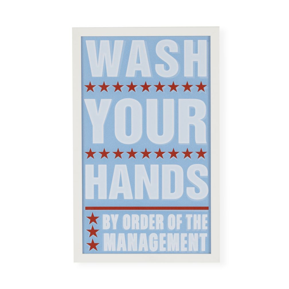 Wash Your Hands Framed Wall Art