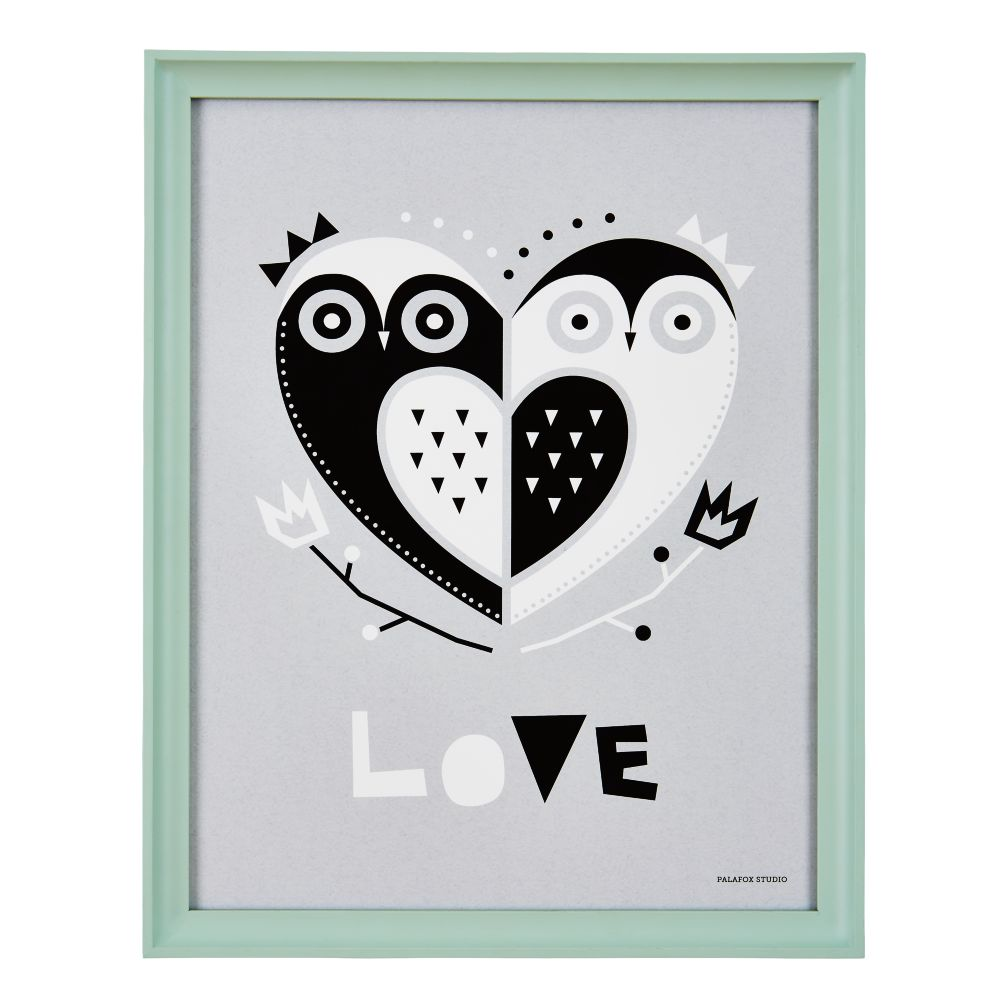 Framed Owl Heart Wall Art