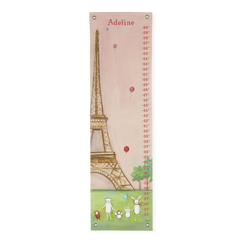 Personalized We&#39;re in Paris Growth Chart