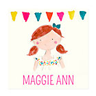 Red Hair Girl Personalized Wall Art