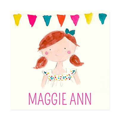 Girl's Night Personalized Wall Art (Red Hair)