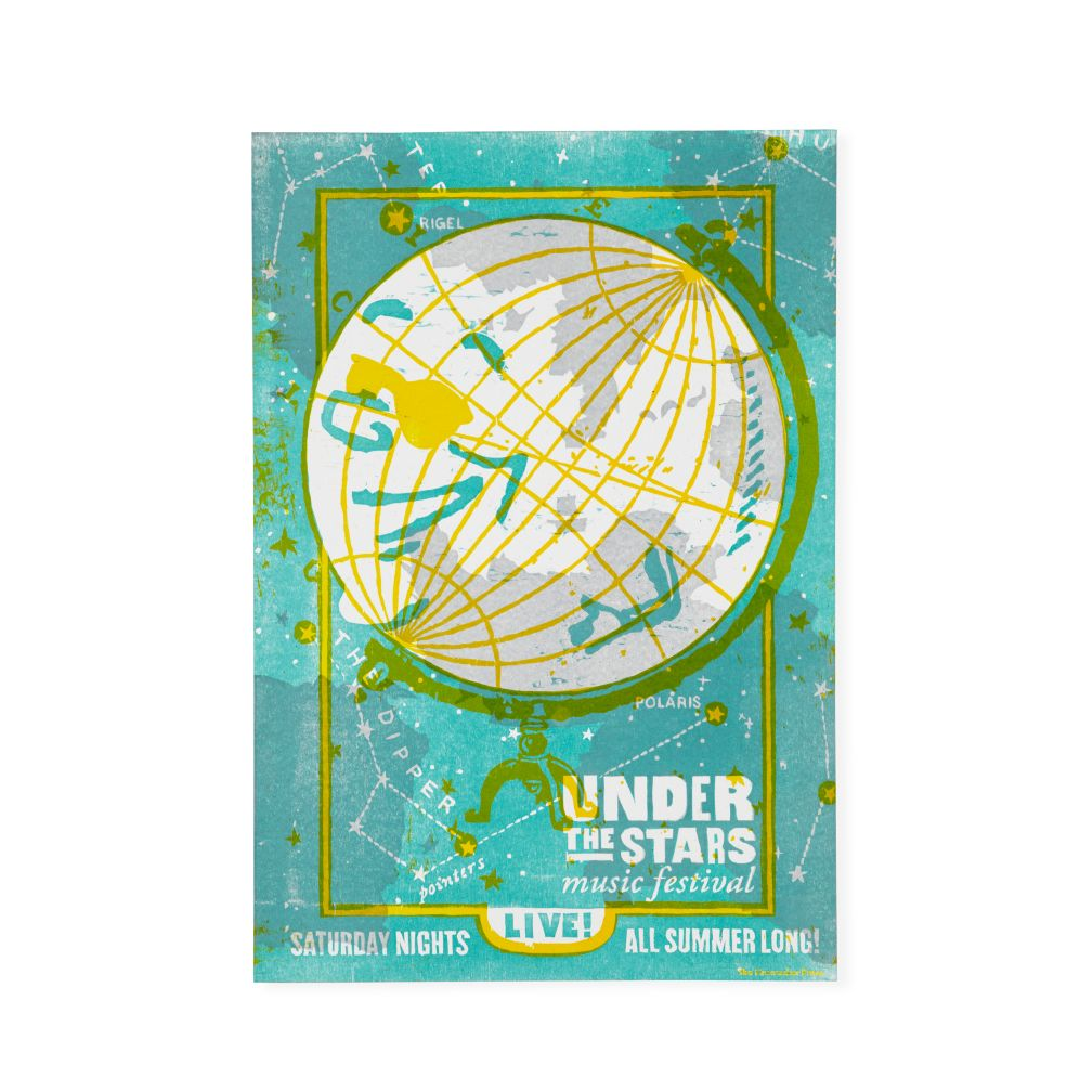 Under the Stars Concert Poster