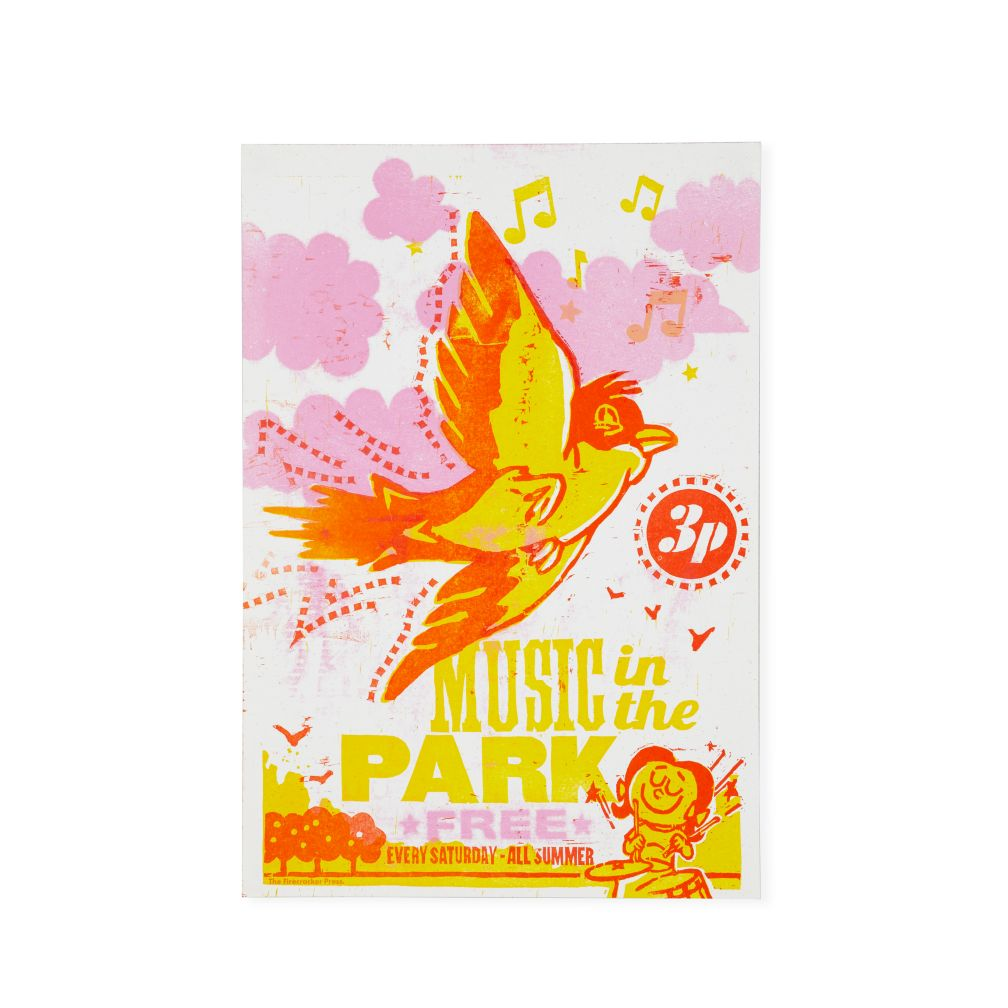 Music in the Park Concert Poster