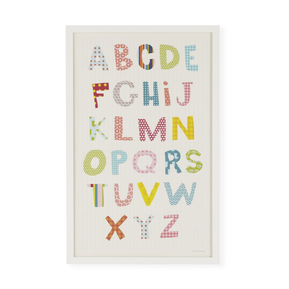 Pretty Patterns Alphabet Framed Wall Art