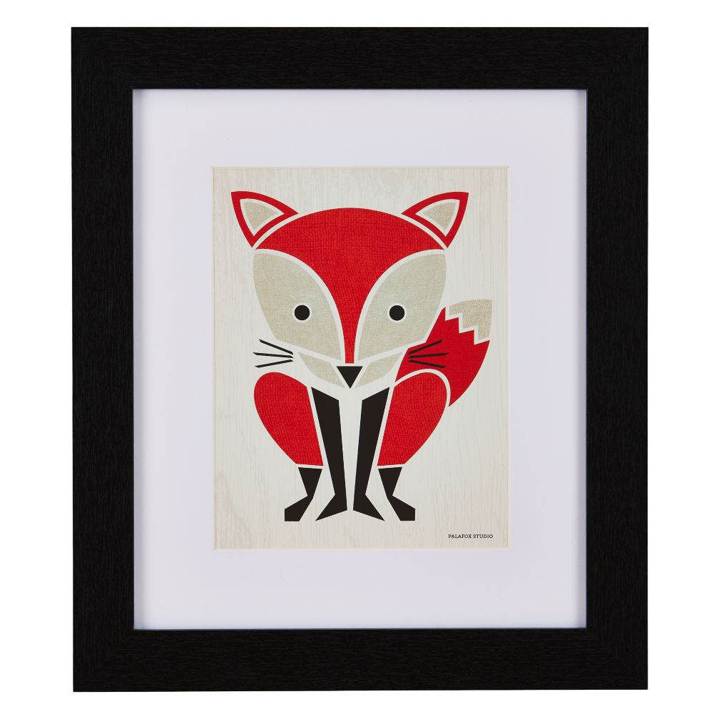Primary Instinct Framed Wall Art (Fox)