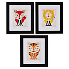 Set of 3 Framed Primary Instinct Wall Art