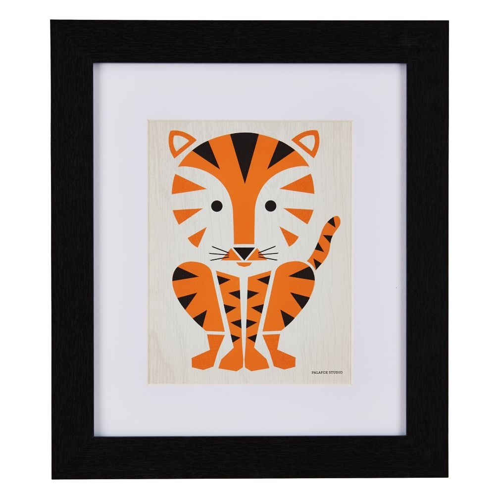 Primary Instinct Framed Wall Art (Tiger)