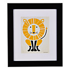 Framed Lion Instinct Wall Art
