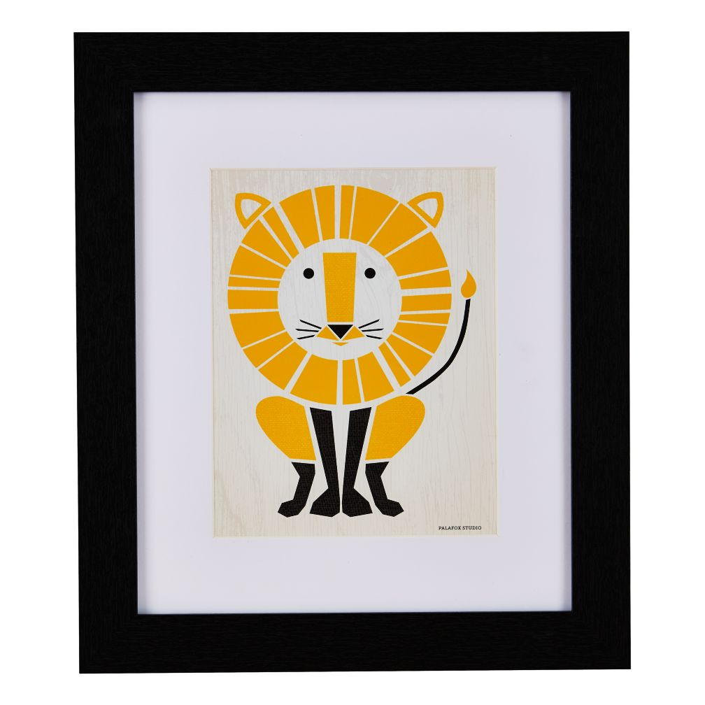 Primary Instinct Framed Wall Art (Lion)