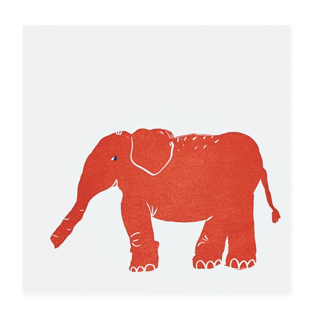 Prints of the Jungle Wall Art (Elephant)