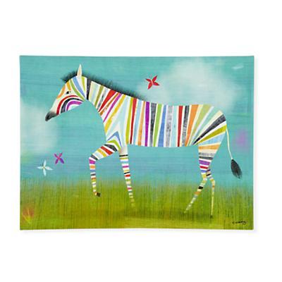 Rainbow Zebra Wall Art