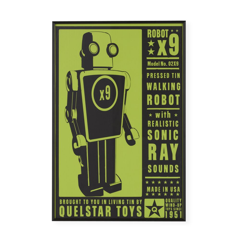 They&#39;re Heeere Outer Space Framed Wall Art (Robot)