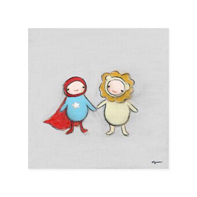 Creative Thursday Canvas Wall Art (Superhero & Lion)