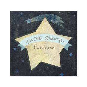 Sweet Dreams Personalized Wall Art (Blue)