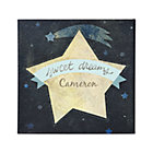 Blue Sweet Dreams Personalized Wall Art
