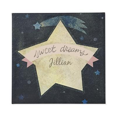 Sweet Dreams Personalized Wall Art (Pink)