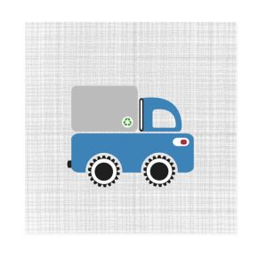 Road Crew Canvas Wall Art (Blue)