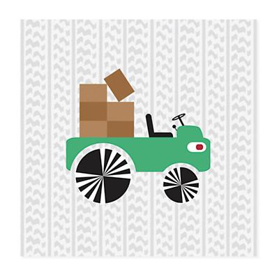 Road Crew Canvas Wall Art (Green)
