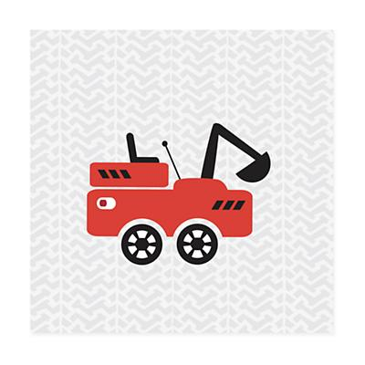Road Crew Canvas Wall Art (Red)