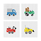 Set/4 Road Crew Canvas Wall Art