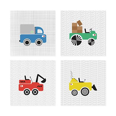 Road Crew Wall Art (Set of 4)