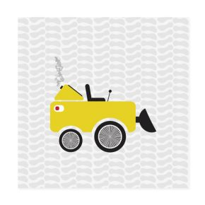 Road Crew Canvas Wall Art (Yellow)