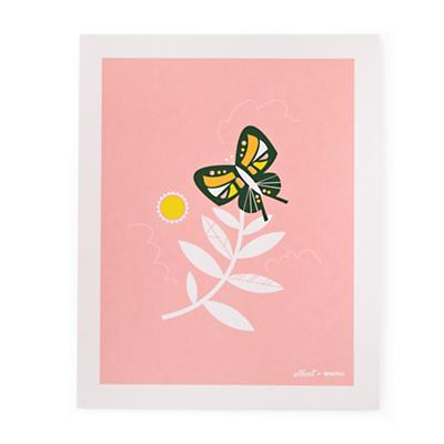 Leaf & Butterfly Wall Art
