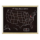 Black Personalized USA Hometown Map Art