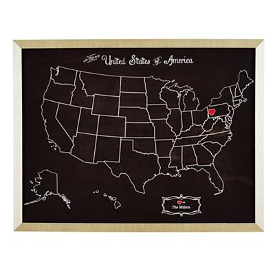 Where the Heart Is Personalized Wall Art (Black)