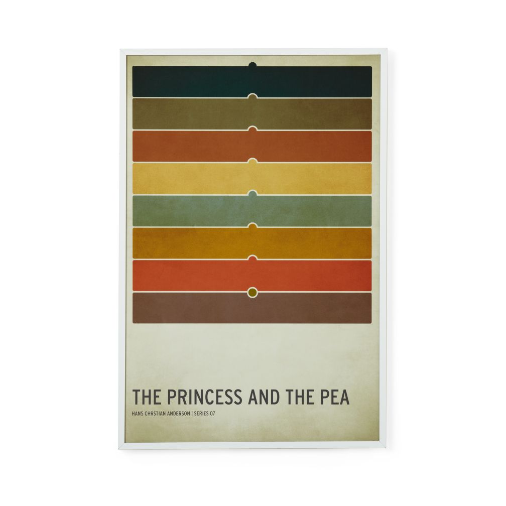 Fairy Tale Framed Poster (Princess and the Pea)