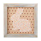 Bunny Wild Pattern Framed Wall Art