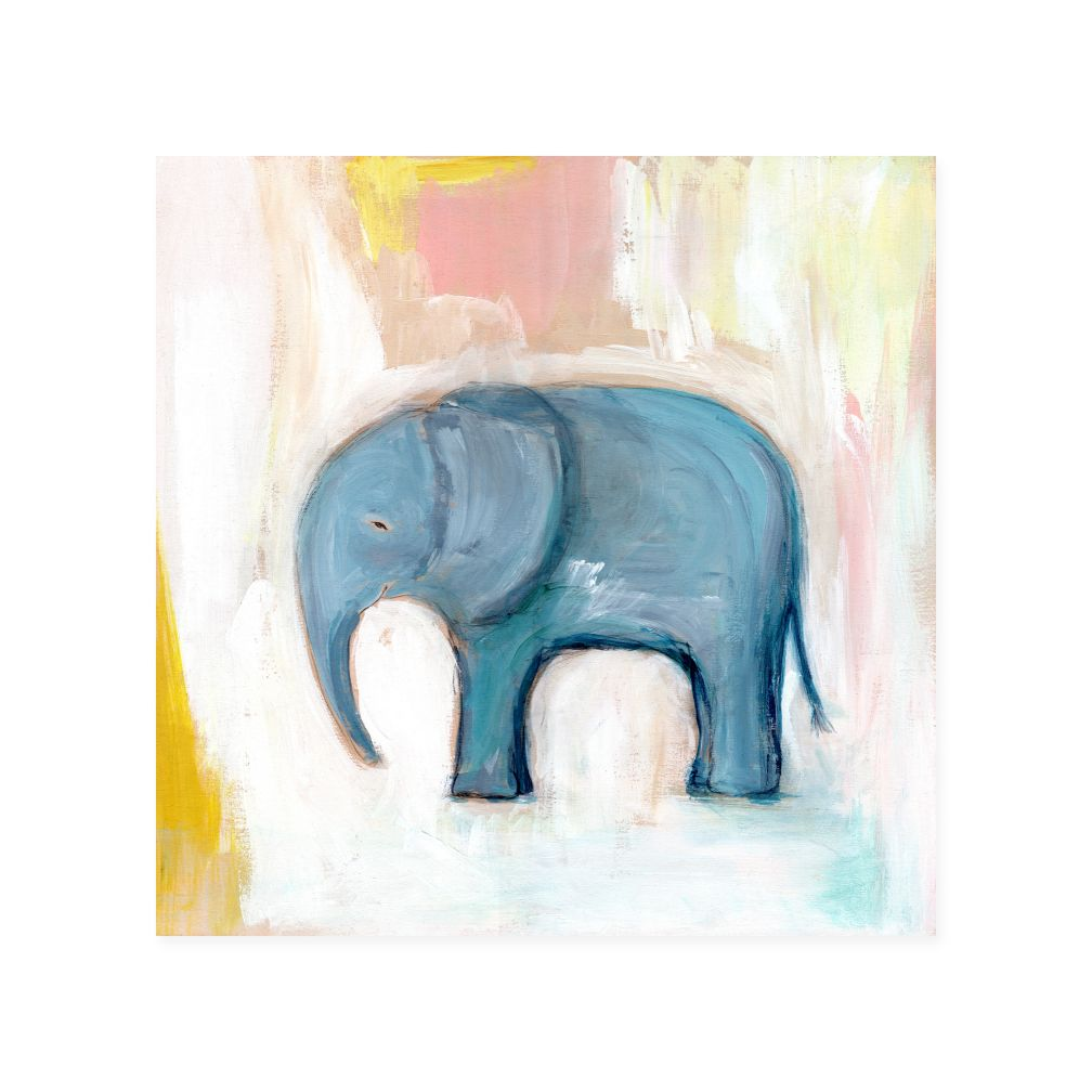 Elephant Wild Watercolor Wall Art