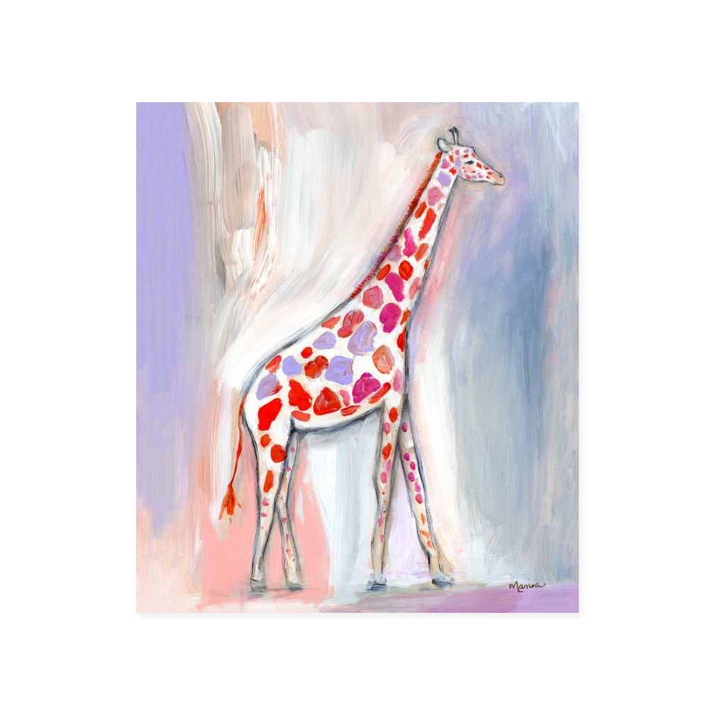 Wild Watercolor Canvas Wall Art (Giraffe)